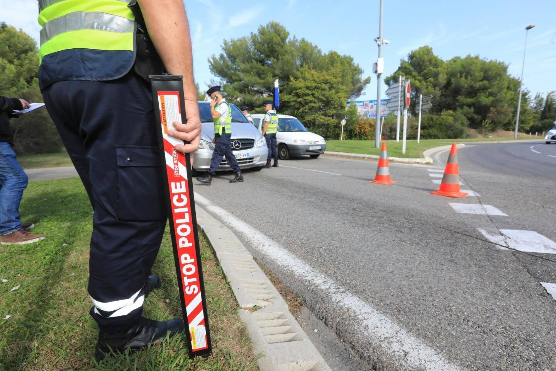 Opération anti excès de vitesse, vendredi 20 octobre à Saint-Cyr-sur-Mer.