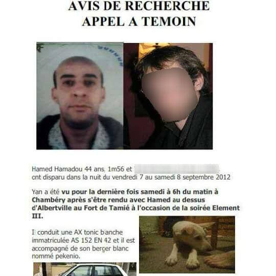 L'avis de recherche concernant Hamed.