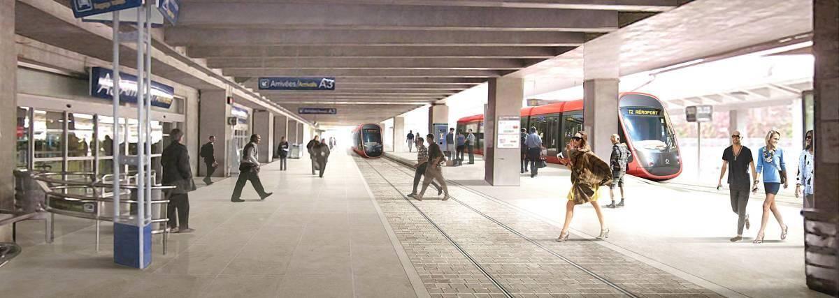 Les terminaux de l'aéroport verront le tram dès décembre.