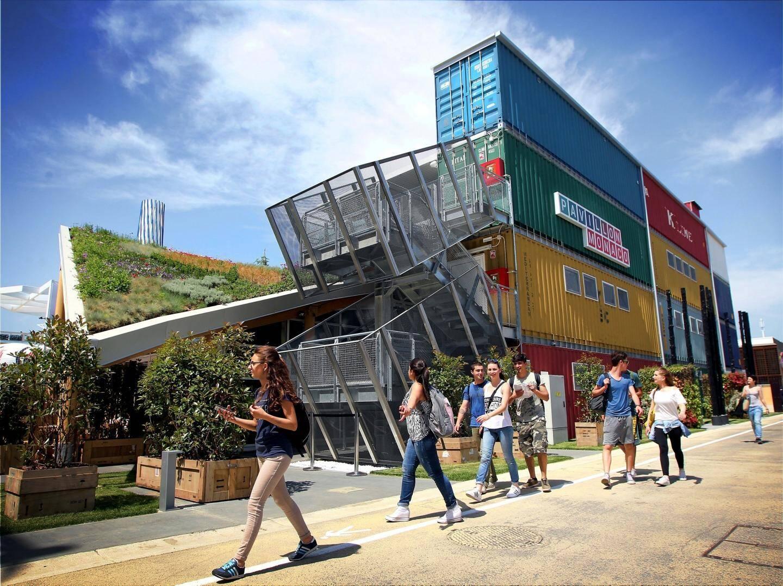 Des éléments du Pavillon de Monaco lors de l'Expo internationale de Milan ont été acheminés pour servir à la construction d'un centre polyvalent de formation et d'hébergement.