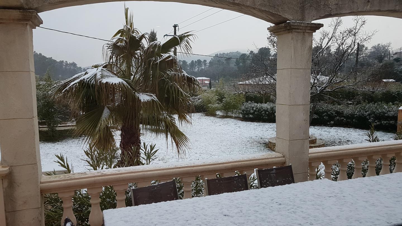 La neige à Méounes, ce mercredi 21 février.