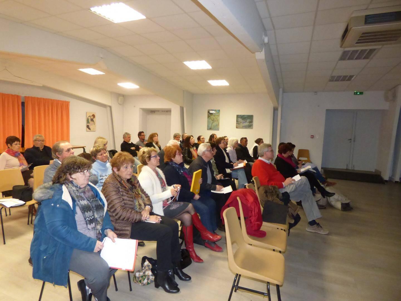 De nombreuses associations étaient représentées pour la présentation du programme aux élus.