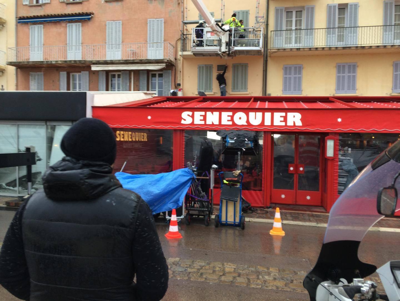 Tournage en vue de conquérir les salles de cinéma cette semaine dans le golfe de Saint-Tropez avec de multiples étapes