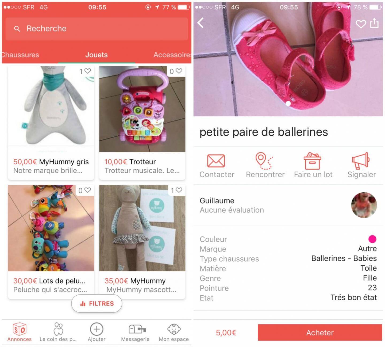L'appli Sokyoot, pour acheter ou revendre du matériel de puériculture