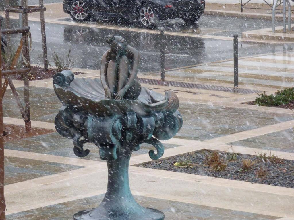 La neige à Saint-Tropez.