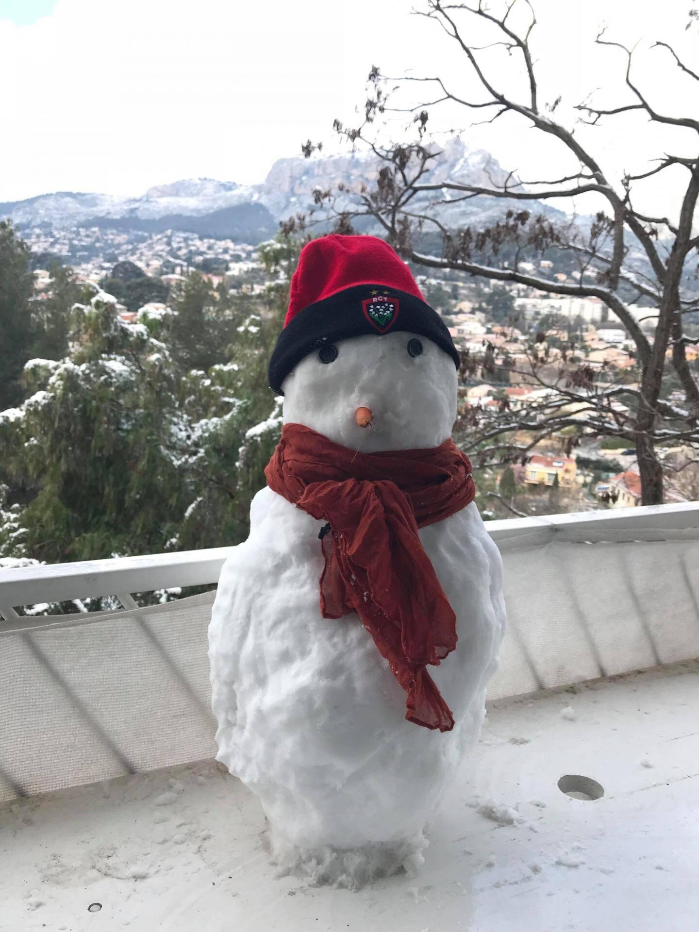 Un bonhomme de neige toulonnais.