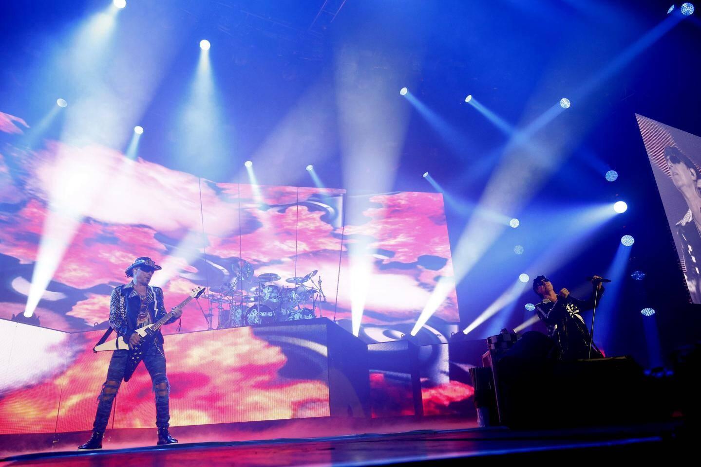 Le groupe Scorpions au Zénith de Toulon ce mercredi.