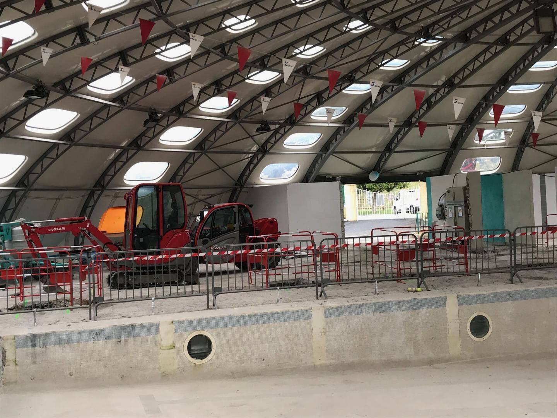 Les travaux ont commencé à la piscine de Saint-Laurent.