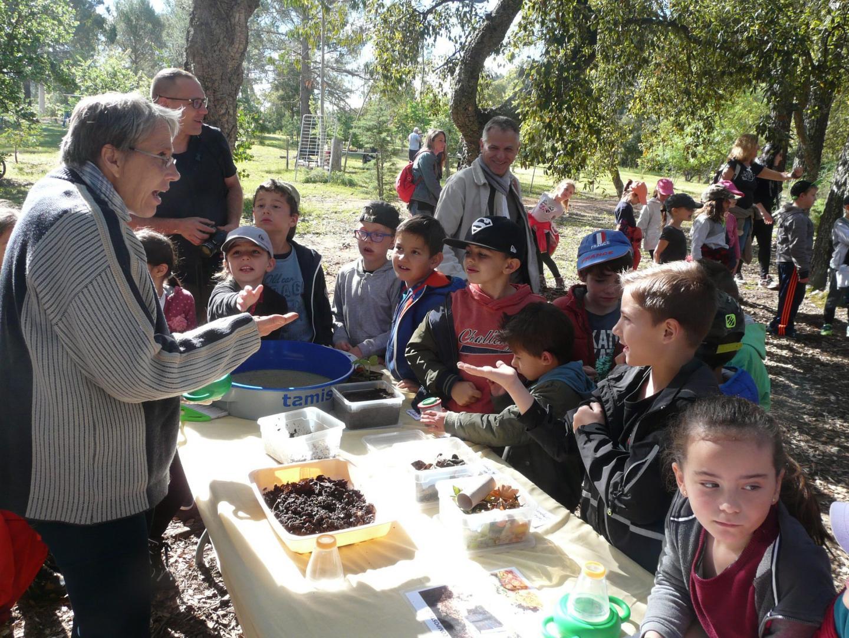Les enfants ont appris comment faire du compost et le rôle des insectes.(photos C. P.)