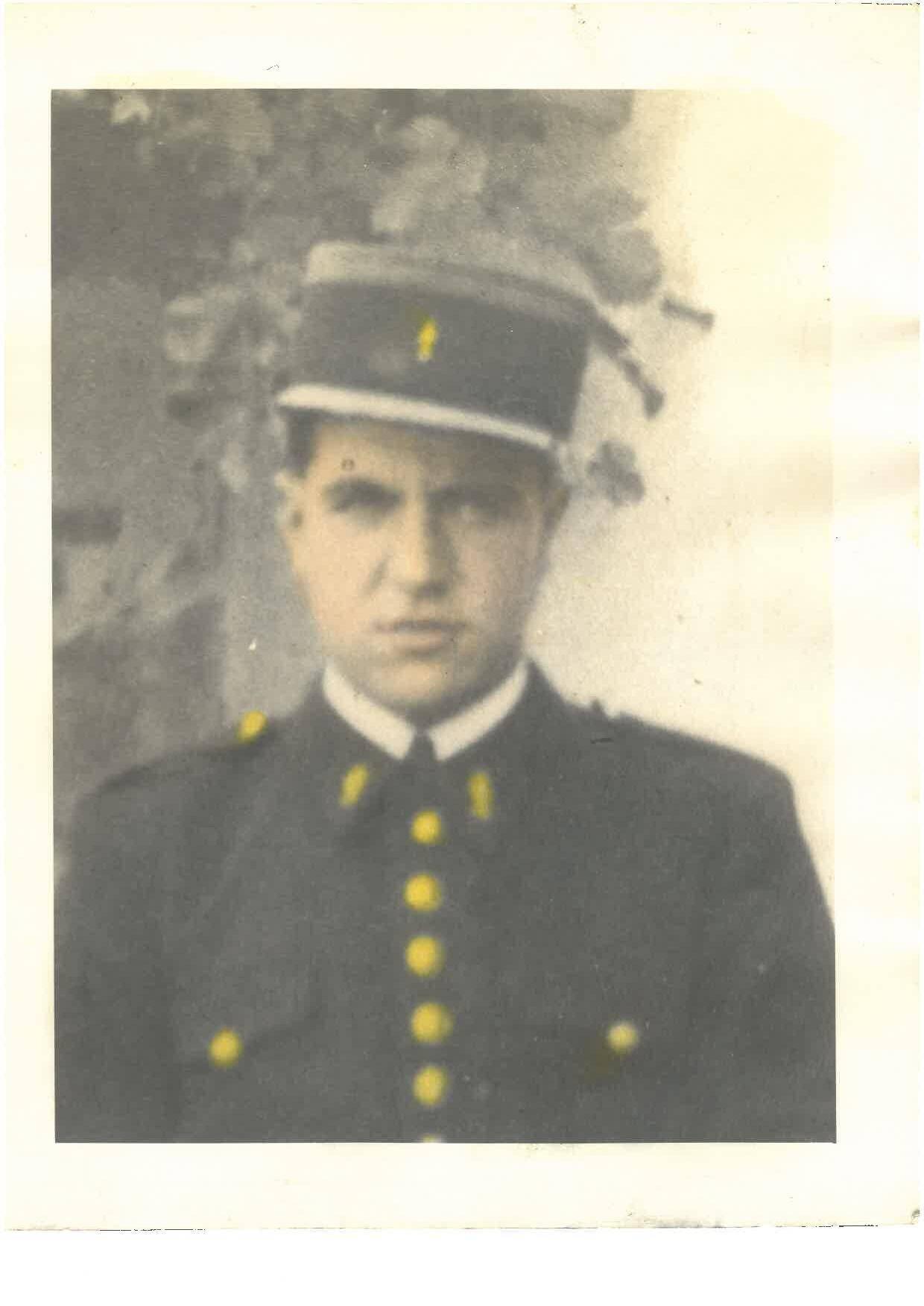 Le gendarme Jean Roudière, tombé le 5 juin 1940 lors de la bataille de la Somme.