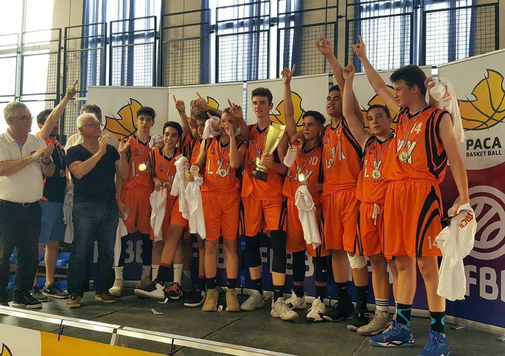 Les U15 ont remporté le titre PACA en battant en finale le grand favori Aubagne.
