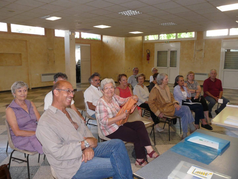 L'association compte 34 adhérents, dont une partie était présente hier.