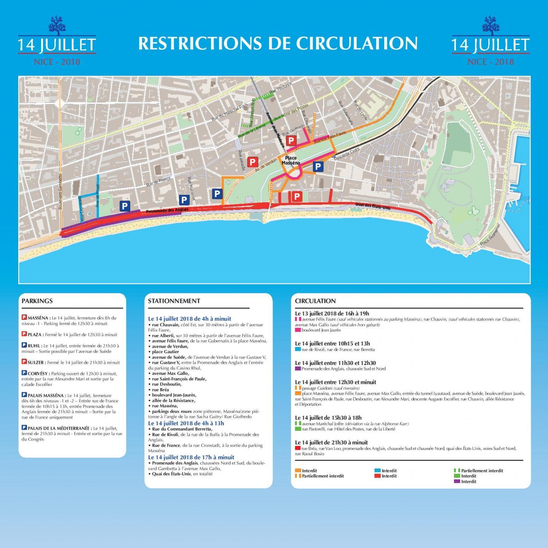 Les restrictions de circulation et de stationnement dans Nice