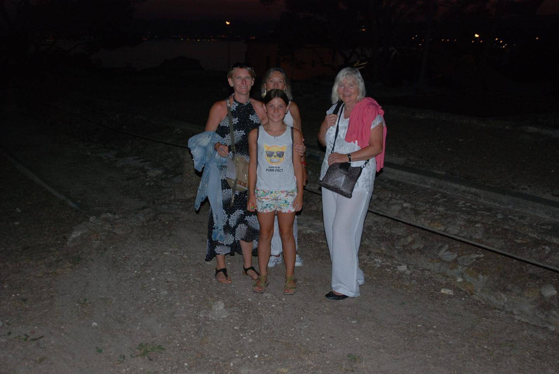 Ces touristes allemands se souviendront très longtemps de cette randonnée nocturne dans un paysage enchanteur.