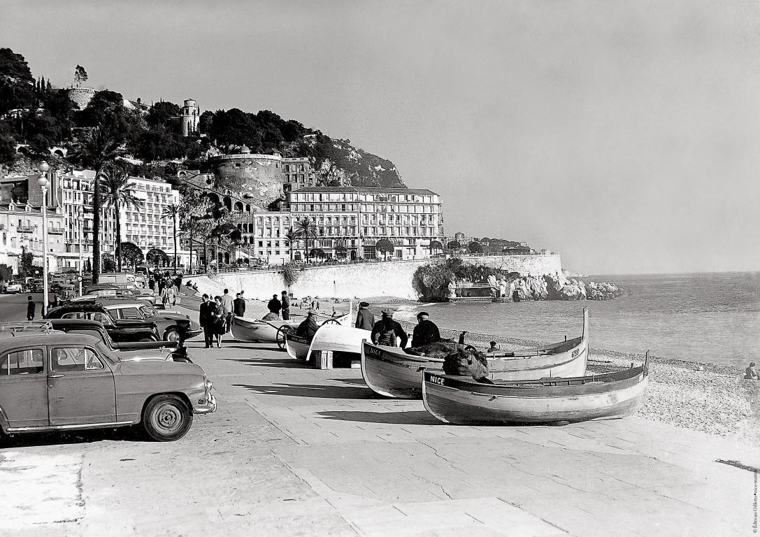 Les Ponchettes à Nice, dans les années 1960.