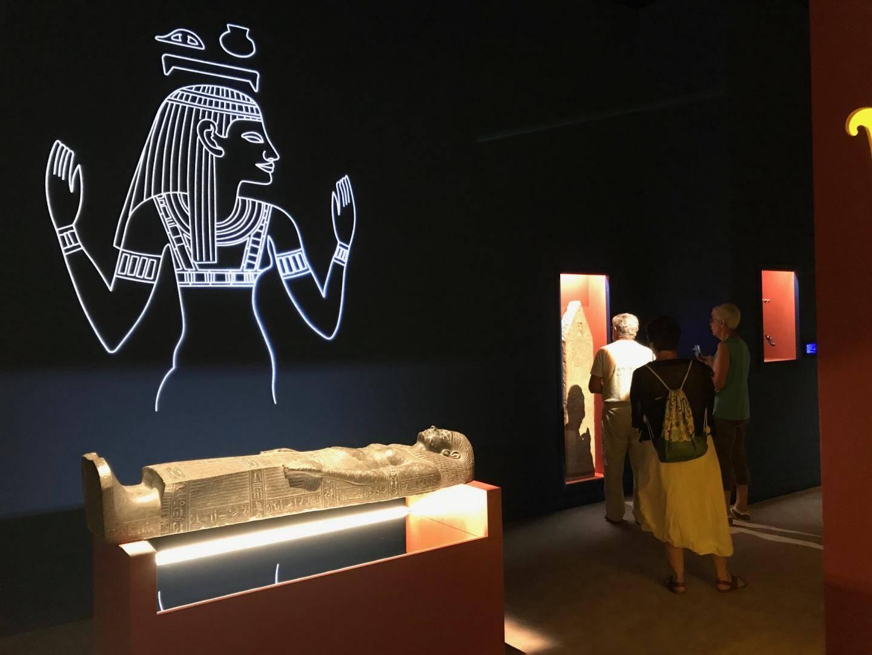 """""""L'or des pharaons"""" a totalisé au cours de l'été 80.000 visiteurs, mieux que """"Reines d'Egypte"""" il y a 10 ans."""