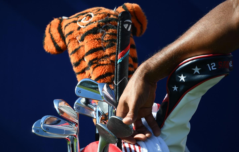 Le sac de golf de Tiger Woods.