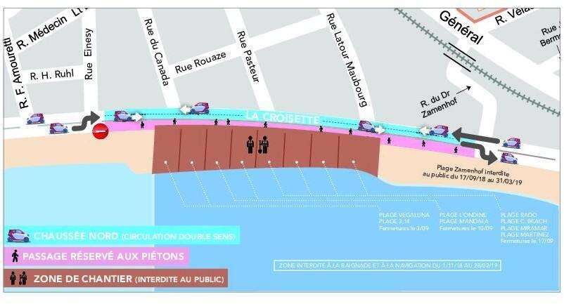 Le plan de la circulation pendant les travaux.