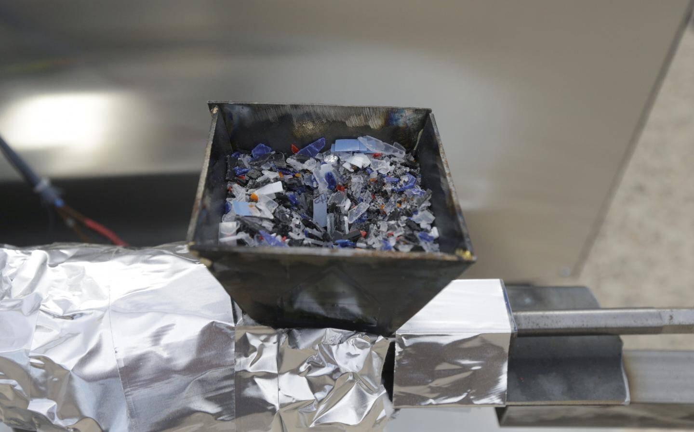 Les déchets plastique sont chauffés à près de 450 °.