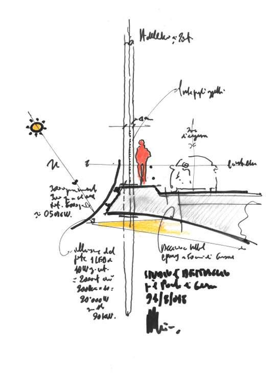 L'un des croquis de Renzo Piano pour le nouveau pont de Gênes.