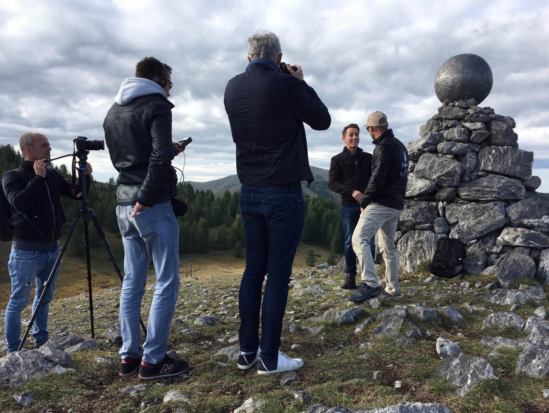 Ushuaia TV sur le Sentier planétaire de Valberg pour un tournage...