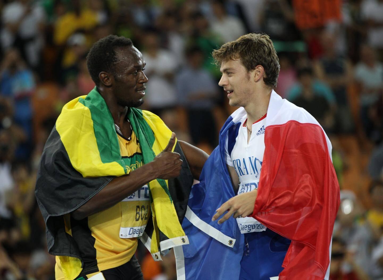 Lemaître et le boss (Usain Bolt)