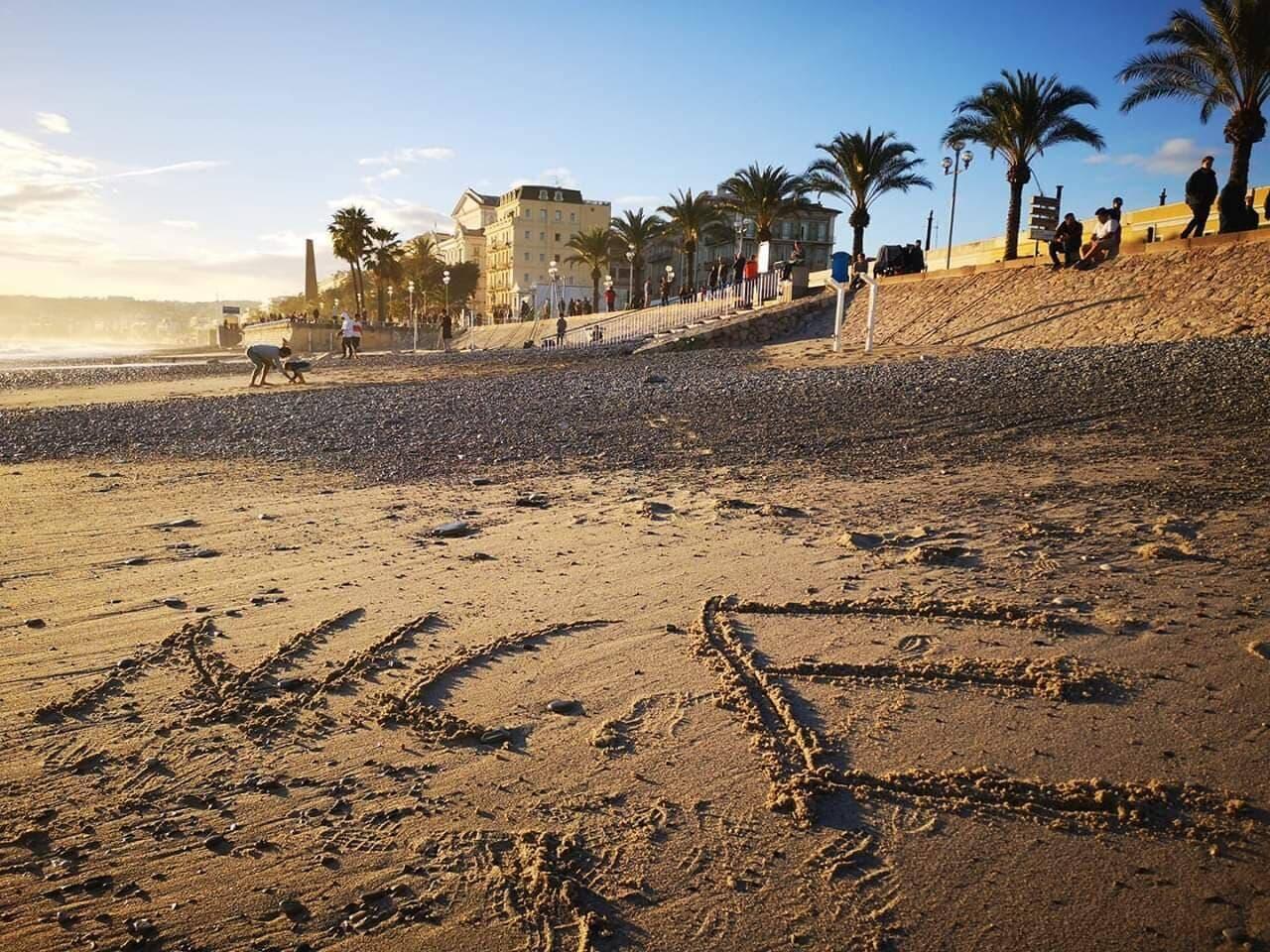 Le sable sur la Prom'.