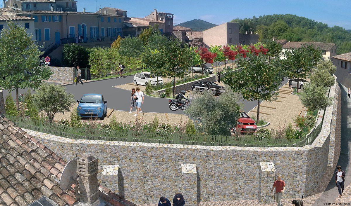 Cet agrandissement doit permettre aux riverains de pouvoir stationner plus facilement et vise à améliorer le cadre de vie grâce à un aménagement paysager.(Repro DR)