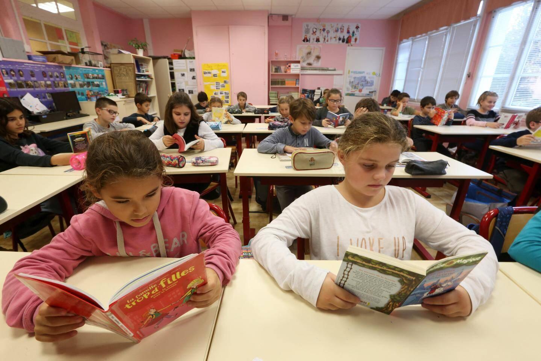 « Silence, on lit », en classe avec l'enseignante Laurence Davaine.