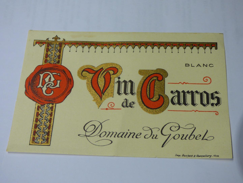 Dans les années 1950 : du vin à Carros...(V. A.)