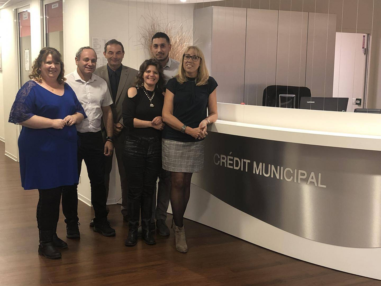 L'équipe du Crédit municipal dans ses nouveaux bureaux.