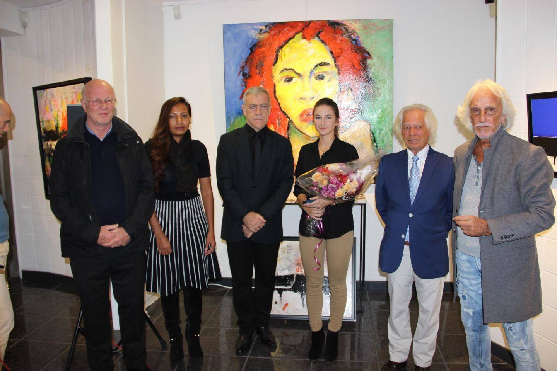 Les artistes ont reçu chacun la médaille de la Ville remise par le maire Gérard Spinelli.