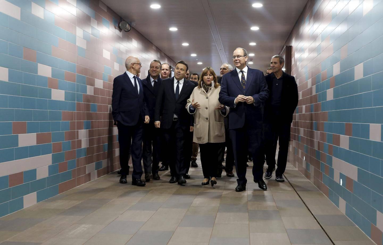 Ce jeudi, le prince Albert II a inauguré le tunnel souterrain avant de le traverser de la gare au boulevard de Suisse.