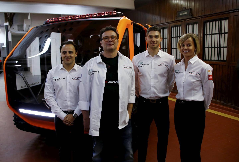 Gildo Pallanca-Pastor a présenté le véhicule avec les deux pilotes de Formule-E, Felipe Massa et Eduardio Morata.