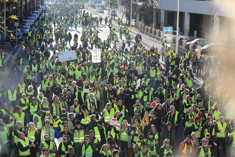 Le défilé des Gilets jaunes s'est fait dans le calme. Ils sont nombreux à ne pas cautionner les dérapages violents.