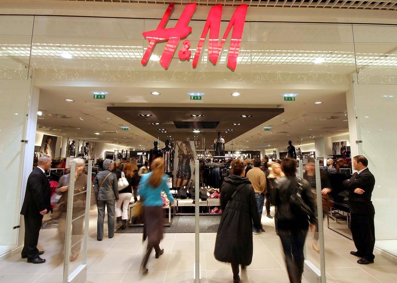 La devanture de la boutique H&M.