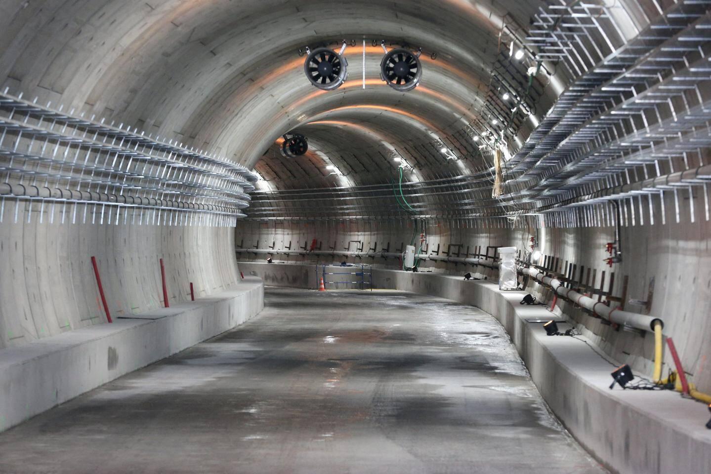 ©PHOTOPQR/NICE MATIN ; Nice le 18/05/2018 - Visite du chantier du tunnel de la Rue de France de la ligne 2 du Tramway entre la sortie du tunnel et la première station au niveau de la rue Alsace-lorraine. Tunnel Rue de France L2 Tram