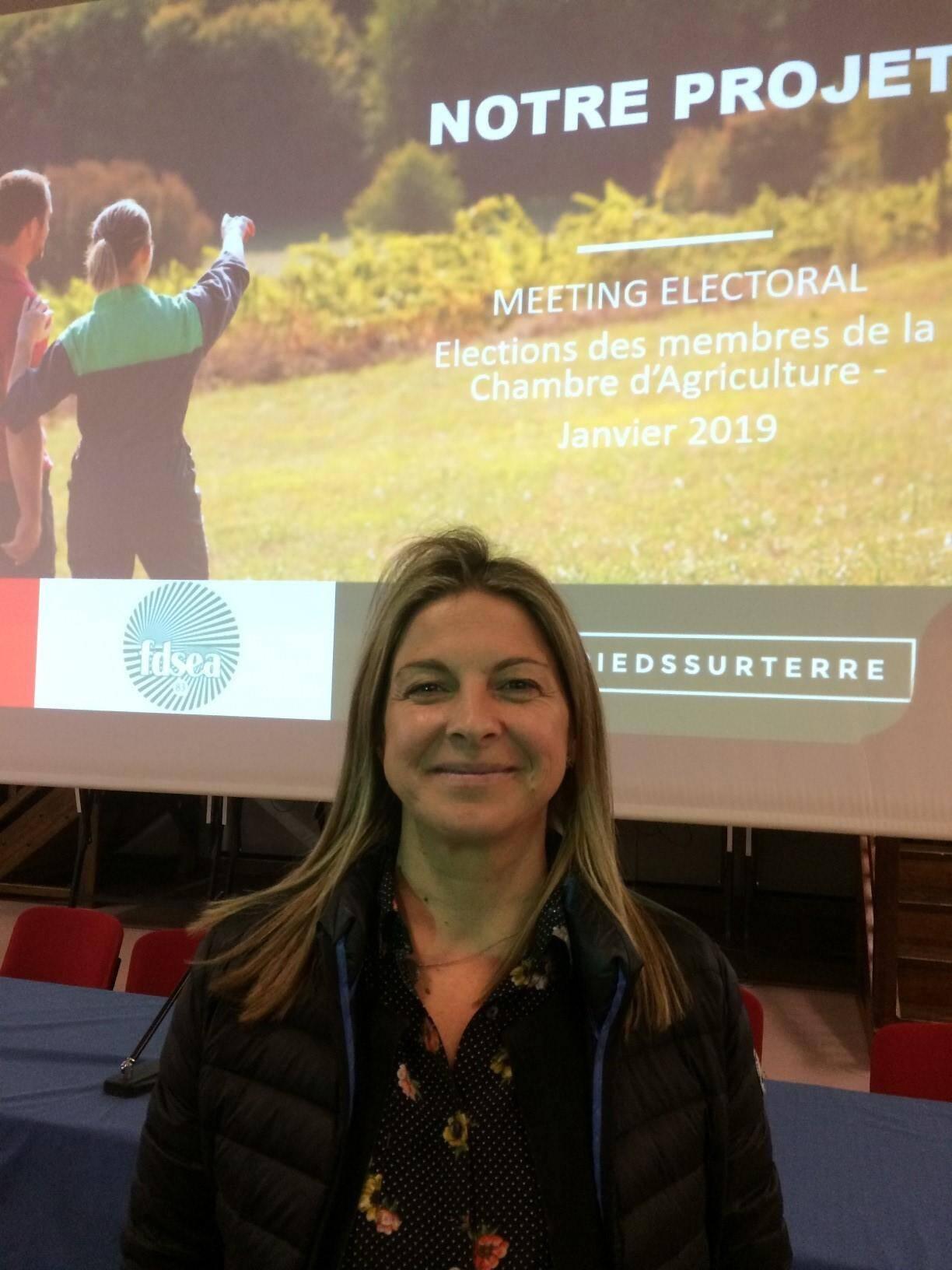 Fabienne Joly, tête de liste de la FDSEA est vigneronne