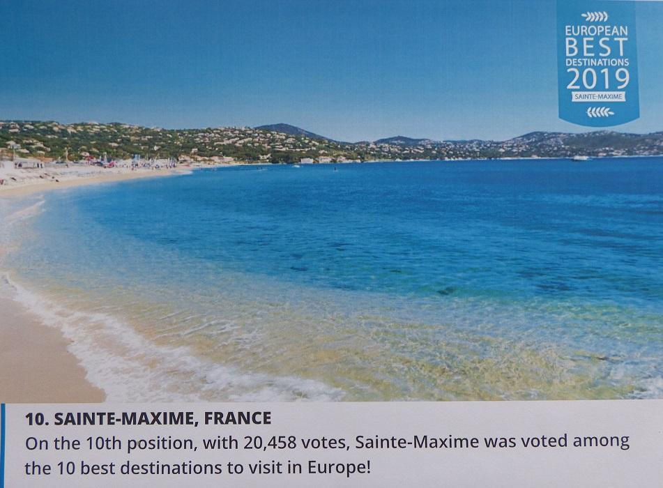 L'organisme européen qui décerne le titre de meilleure destination européenne arbore une photo de la plage de la Nartelle pour illustrer son choix.