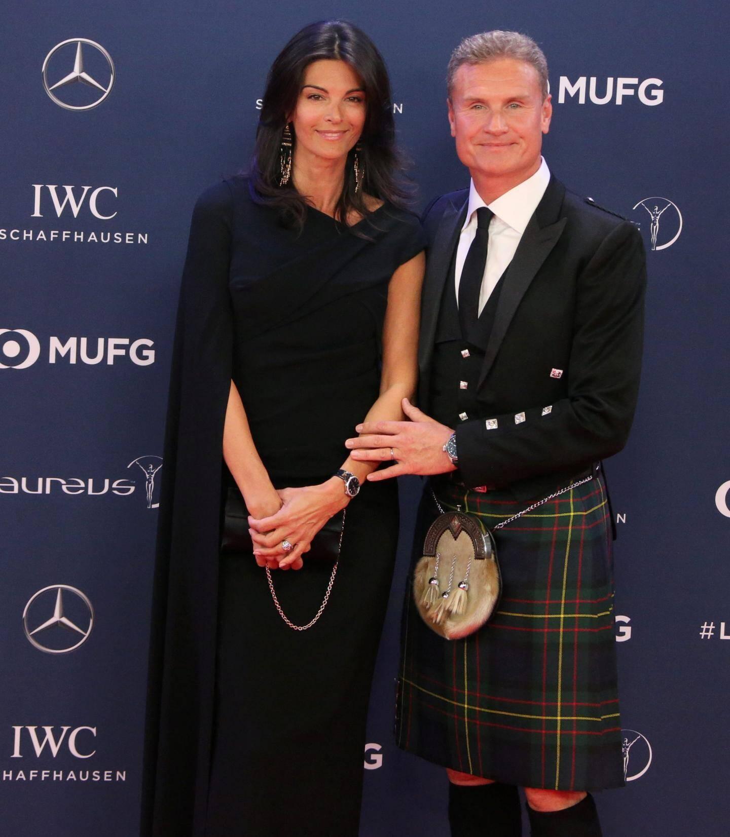 David Coulthard (F1) et sa conjointe, Karen Minier.