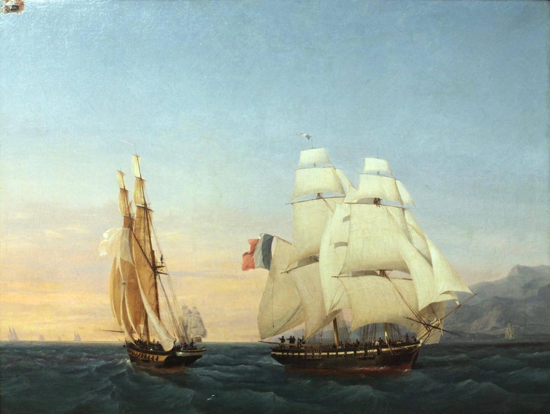 L'Inconstant, le navire à bord duquel Napoléon a pris la fuite de l'île d'Elbe, en Italie.