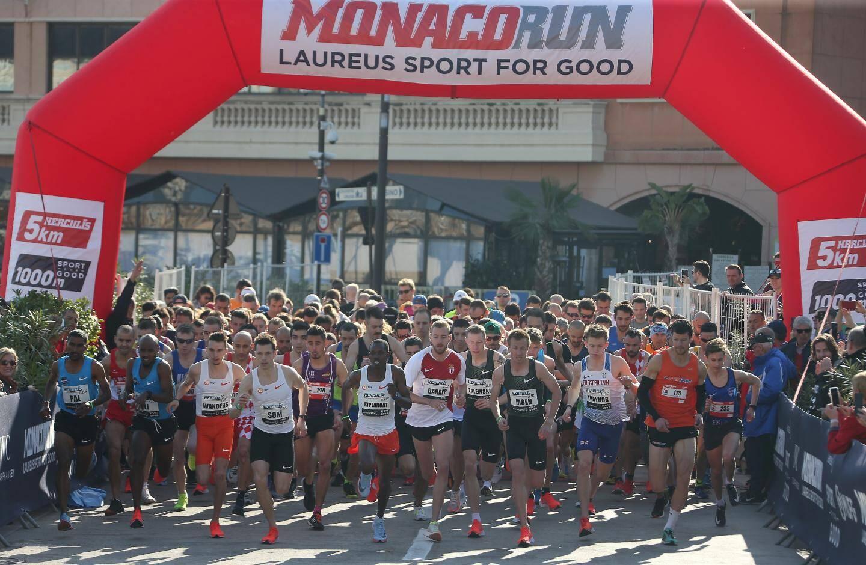 Course phare de la «Monaco Run», l'épreuve des cinq kilomètres a rassemblé de nombreux sprinteurs ce dimanche.
