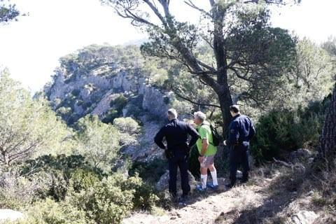 La piste du chemin escarpé des crêtes, sur le mont Faron, a été repérée par le chien de la sécurité civile.
