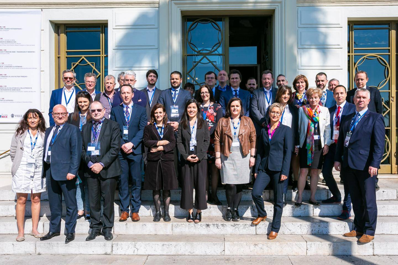 Les élus et acteurs de villes européennes présents au lancement de Pactesur. (DR)