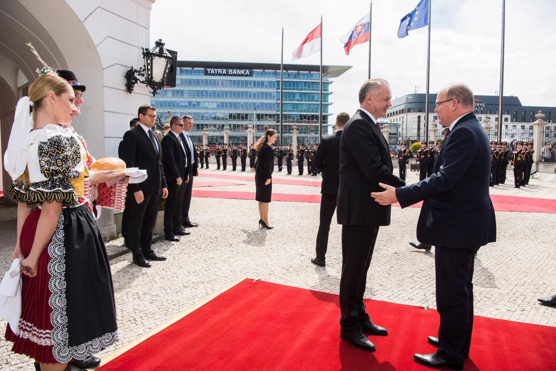 Le prince Albert II avait effectué une visite officielle en Slovaquie en mai 2017.
