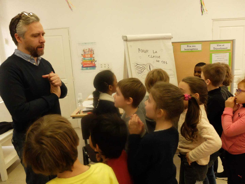 L'auteur illustrateur Mathias Friman a su passionner les enfants.