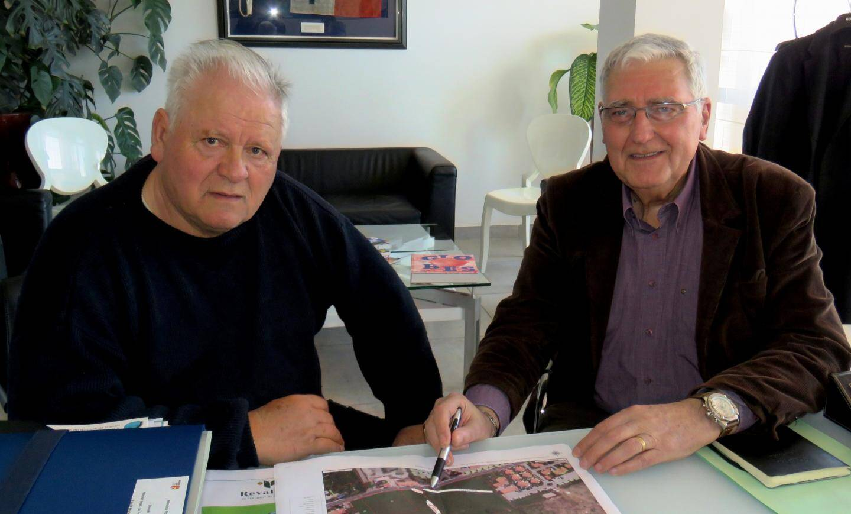 Le président de Provence-44, Jean-Pierre Large, et l'adjoint Prix Pierrat (de gauche à droite) travaillent activement pour proposer des festivités à la hauteur de l'événement.