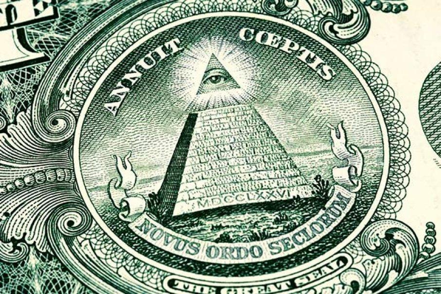 La pyramide représentée sur les billets de 1 dollar est une preuve de la main-mise planétaire des Illuminati selon les théoriciens du complot.