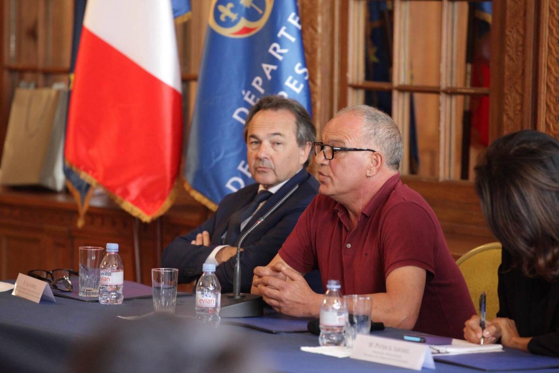 À droite, Ivano Sovieri, le père d'Andréa, avait témoigné en 2015 à Nice: