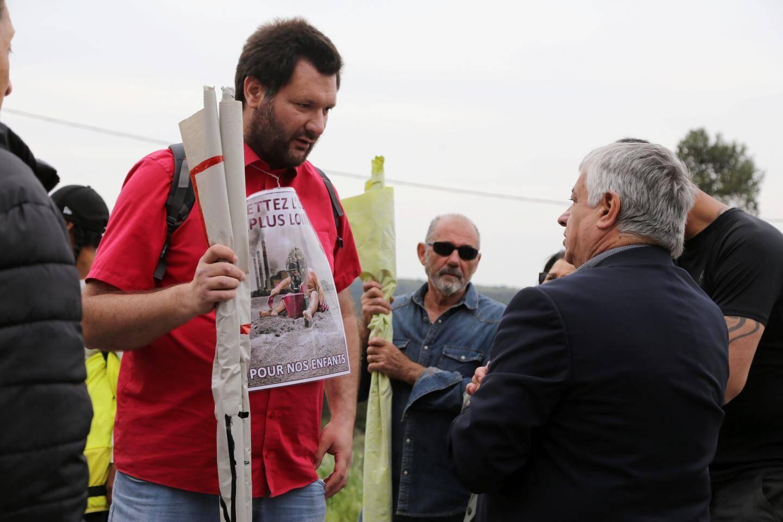 """Nicolas Trucchi, membre de """"SOS cadre de vie"""", s'est longuement entretenu avec Didier Brémond."""